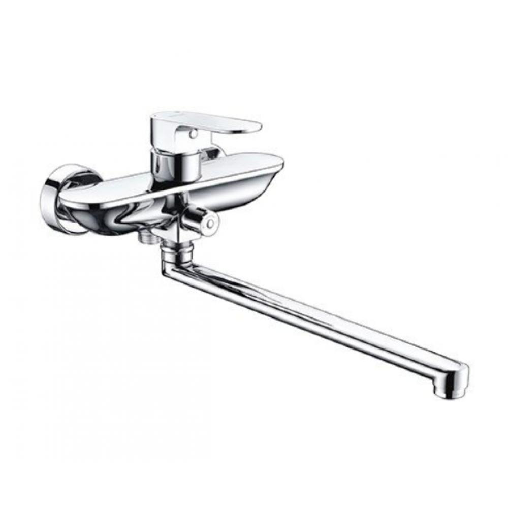 Смеситель Dinkel 5802L для ванны с длинным повортным изливом 350мм, хром