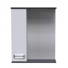 Полка зеркальная AVN 60 Лофт со шкафом левая
