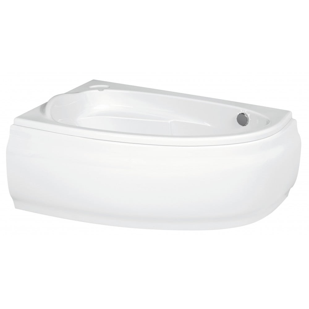 Ванна асимметричная Cersanit Joanna 150x95 ультра белый