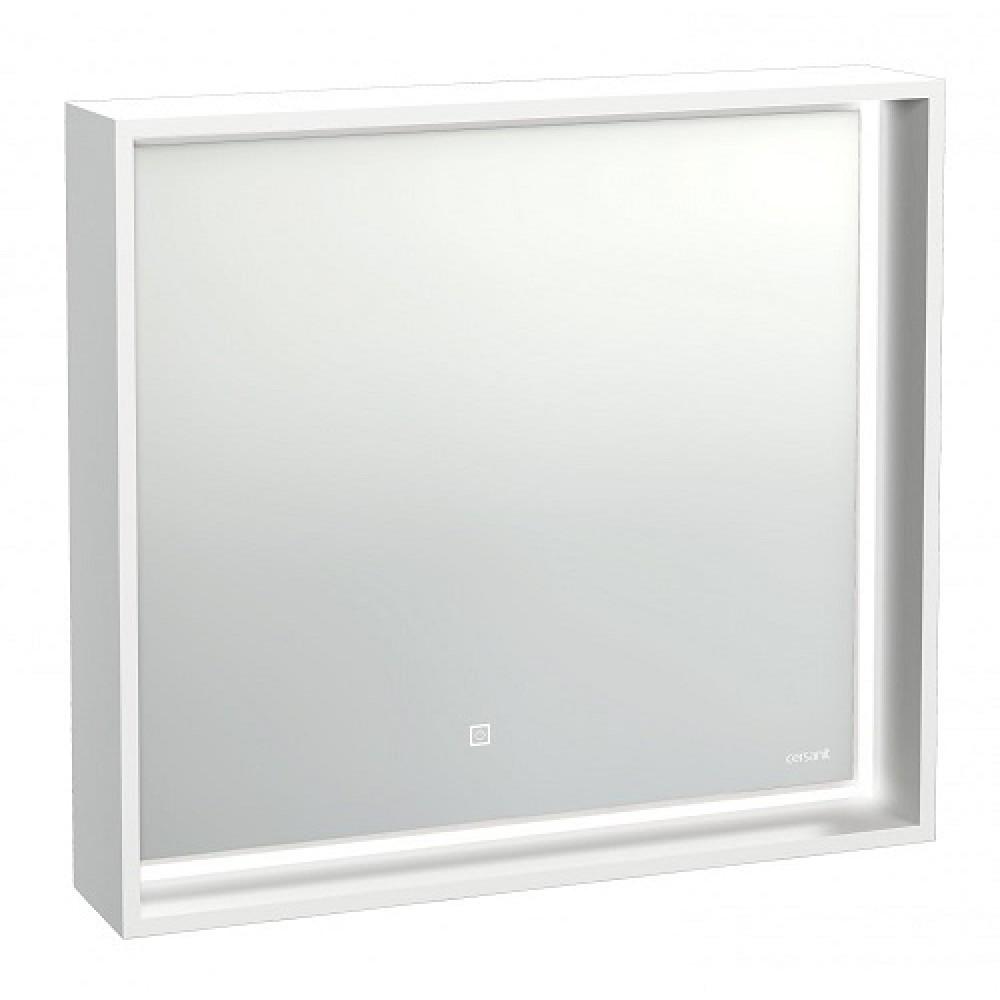 Зеркало Cersanit LOUNA 80 с подсветкой прямоугольное универсальная белый