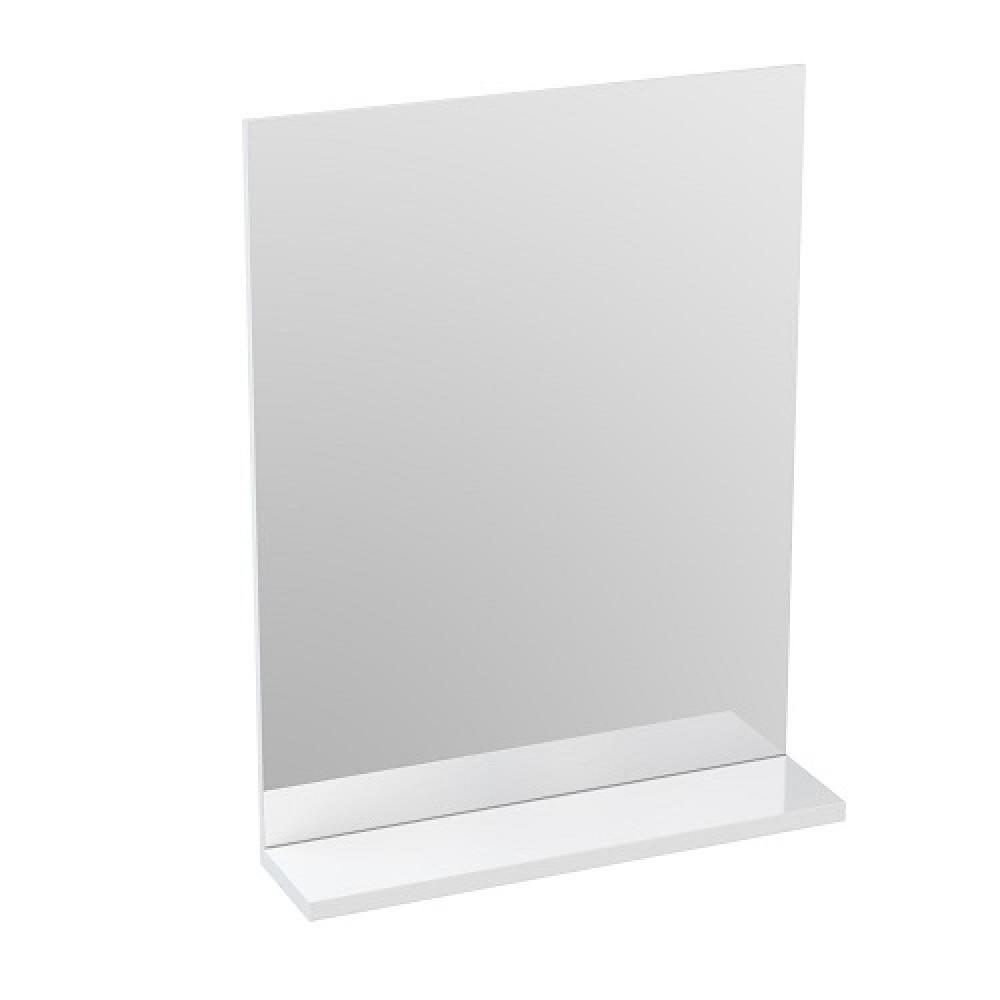 Зеркало Cersanit с полкой MELAR 50 без подсветки прямоугольное универсальная белый