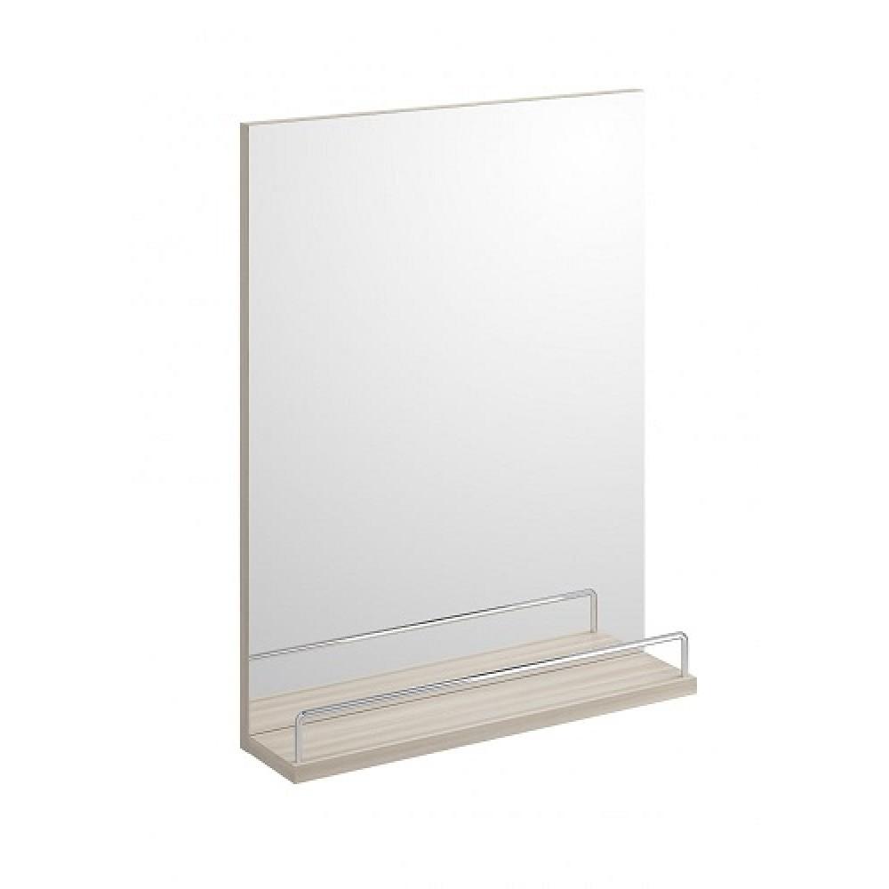 Зеркало Cersanit с полкой SMART 50 без подсветки прямоугольное универсальная ясень
