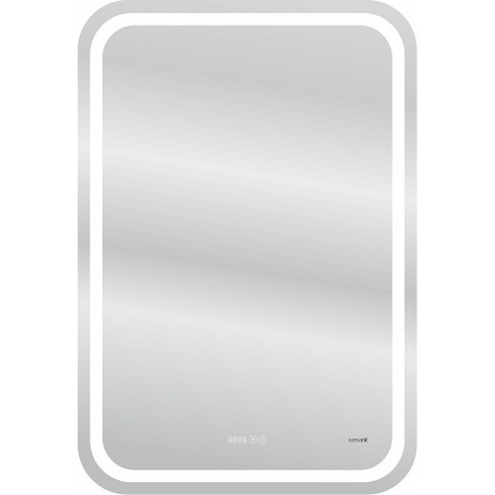 Зеркало Cersanit LED 050 design pro 55x80 с подсветкой хол. тепл. cвет часы с антизапотеванием прямоугольное