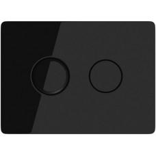 Кнопка Cersanit ACCENTO для AQUA 50 пневматическая стекло черный