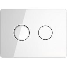 Кнопка Cersanit ACCENTO для AQUA 50 пневматическая стекло белый