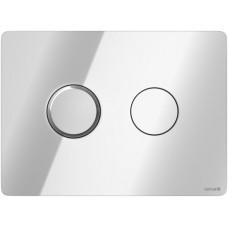 Кнопка Cersanit ACCENTO для AQUA 50 пневматическая пластик хром глянцевый