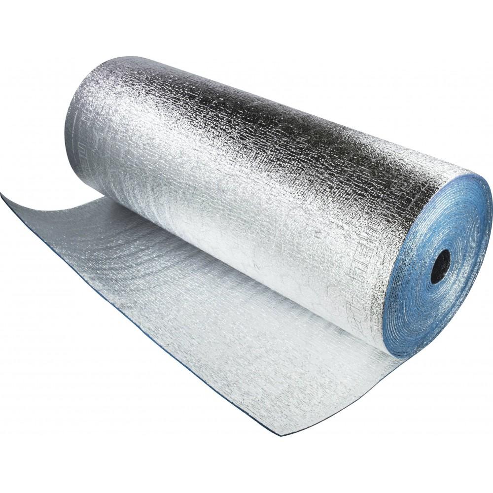Подложка Порилекс НПЭ 10мм, 1200*15 фольгированная для стен  (18кв.м/рулон)