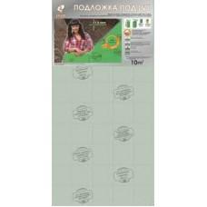 Подложка листовая под LVТ покрытия 1000*500*1,5 Зеленая (10м2/уп) Солид