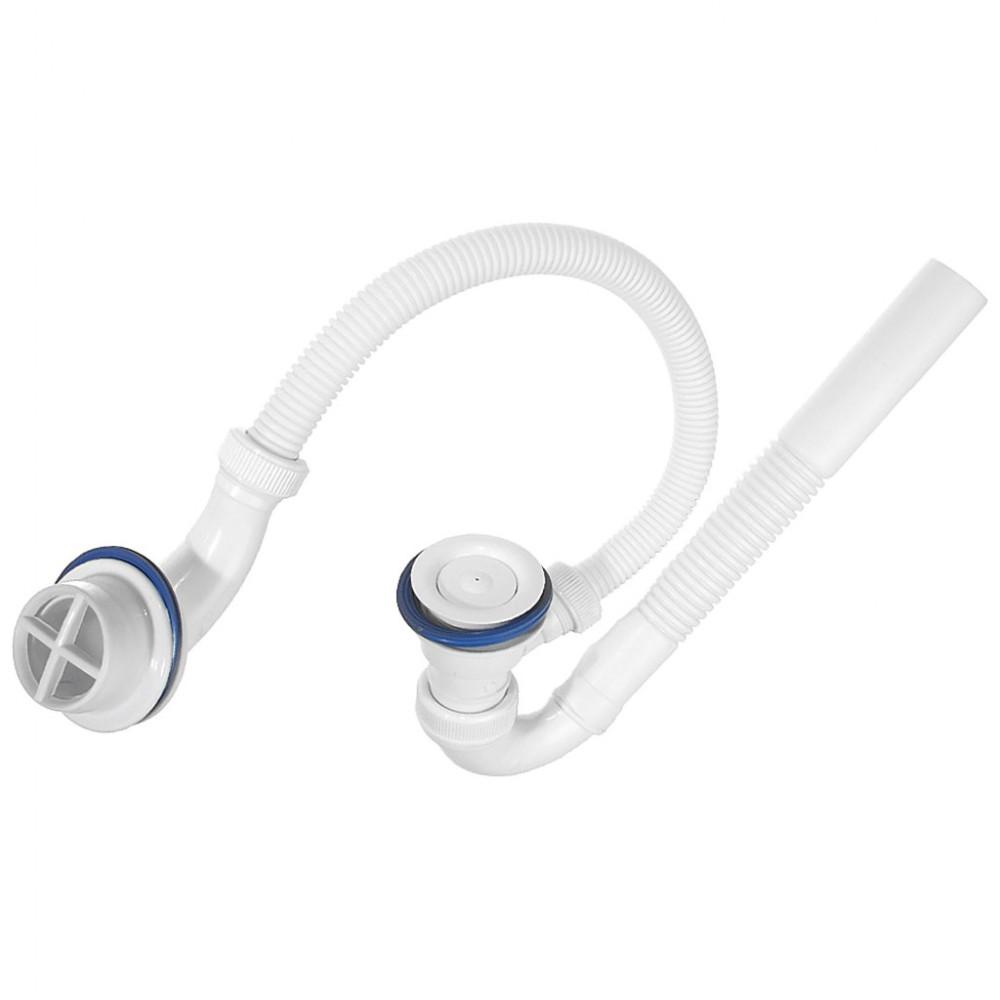 Сифон для ванны поворотный белый 143
