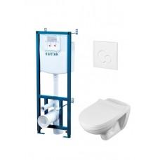 ПЭК Santek Бореаль Пэк 1WH302464 (подвесная чаша + инсталляция +сиденье+панель бел. цвета)