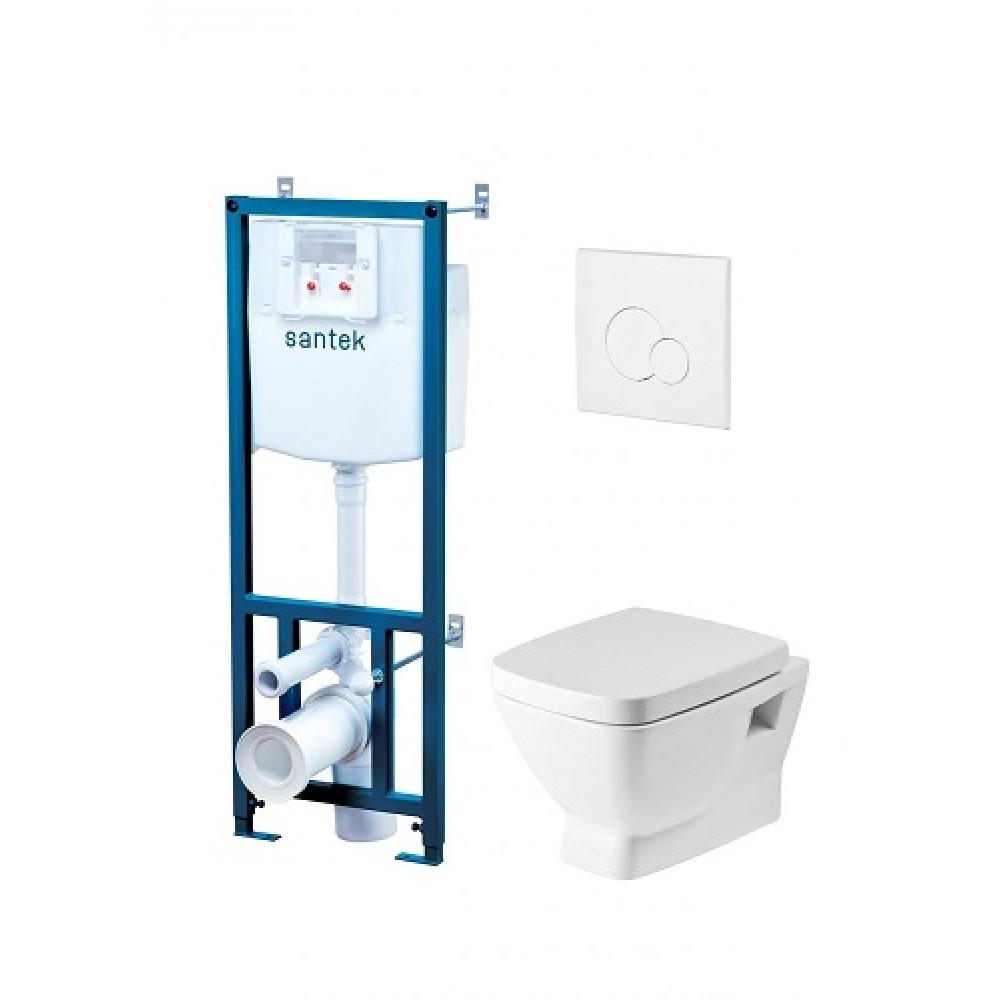 ПЭК Santek Нео Пэк 1WH302463 (подвесная чаша + инсталляция + сиденье + панель белого цвета)