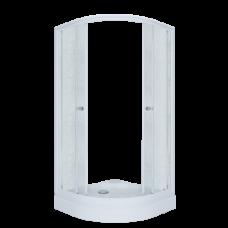 Душевое ограждение Triton Риф 90*90 А 1/4 круга, низ. поддон, Грейс, Белый (3 места+сифон D90мм)